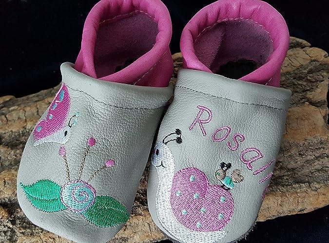Handmade Lederpuschen Kinderschuhe Babyschuhe Schmetterling