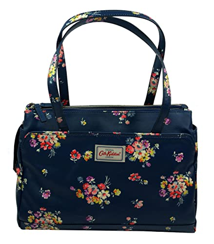 f53dd2986e89b Cath Kidston Multi Pocket Handbag Mallory Bunch Floral Navy: Amazon ...
