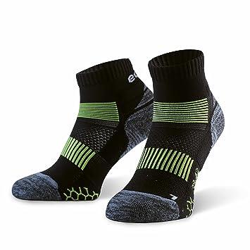 Eono Essentials - Calcetines de running para hombre y mujer (paquete de 3 uds.), Negro, tallas 43-46: Amazon.es: Deportes y aire libre