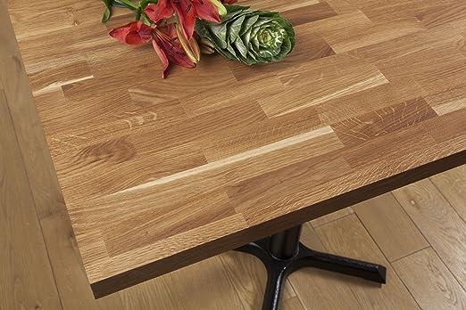 Tablero para mesa de comedor de madera de roble macizo, 40mm Stave ...