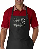 Personalized Chef Name Embroidered Apron