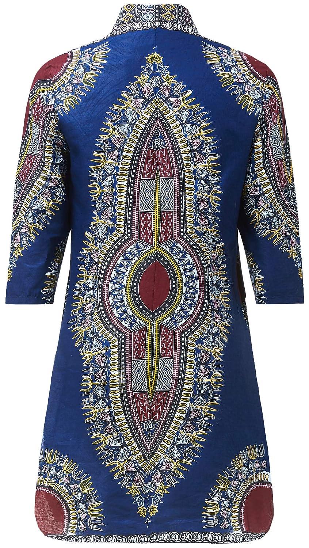 c11d45582da Amazon.com  Women African Print Shirt Dashiki Traditional National Clothing   Clothing
