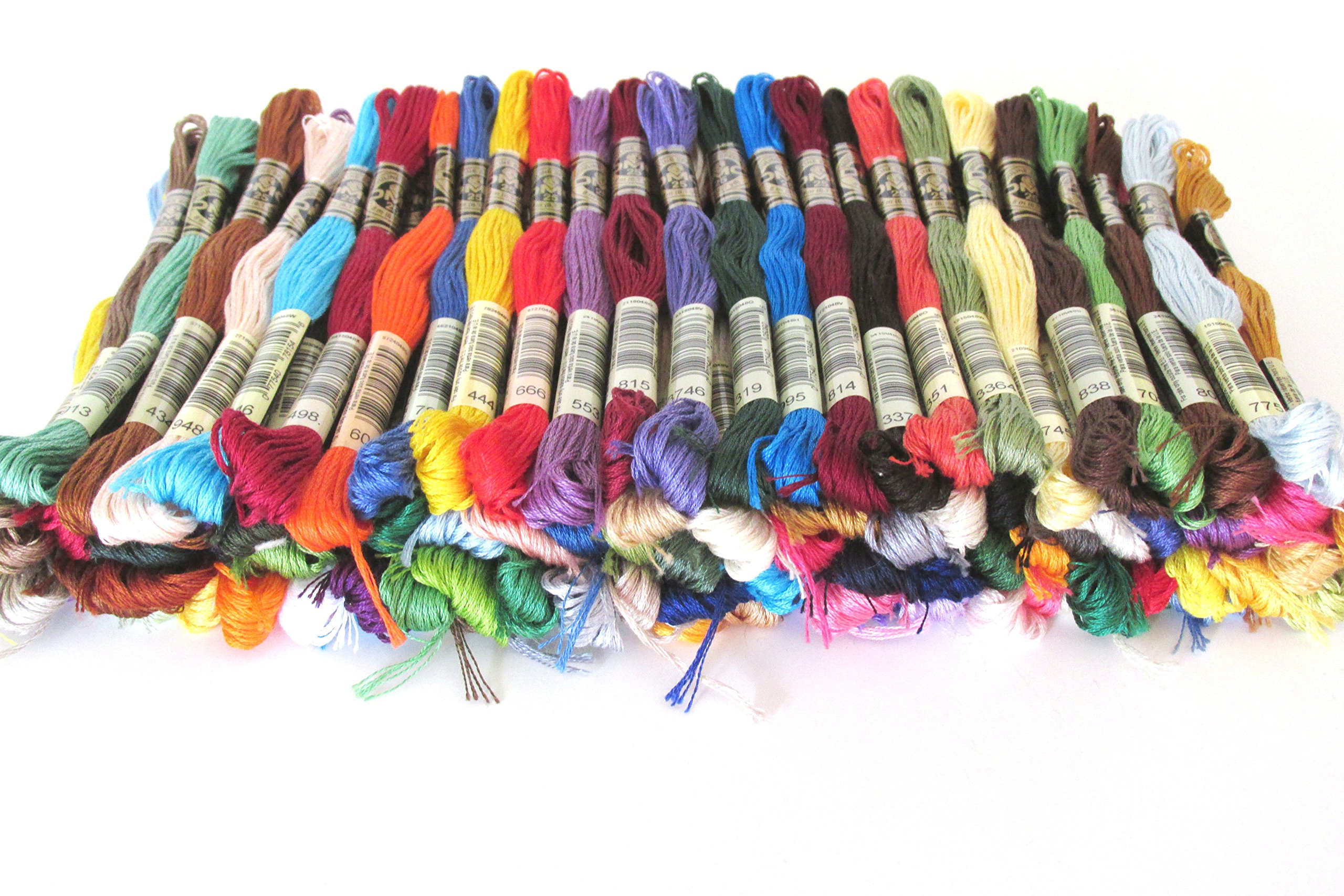 DMC Embroidery Floss Assortment 100 Colors. Genuine Made in France by DMC