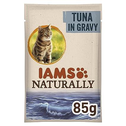Iams delights Comida húmeda para gatos adultos iams naturally atún en salsa 85 gr