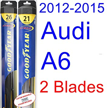 Amazon.com: 2012-2015 Audi A6 Replacement Wiper Blade Set/Kit (Set of 2 Blades) (Goodyear Wiper Blades-Hybrid) (2013,2014): Automotive
