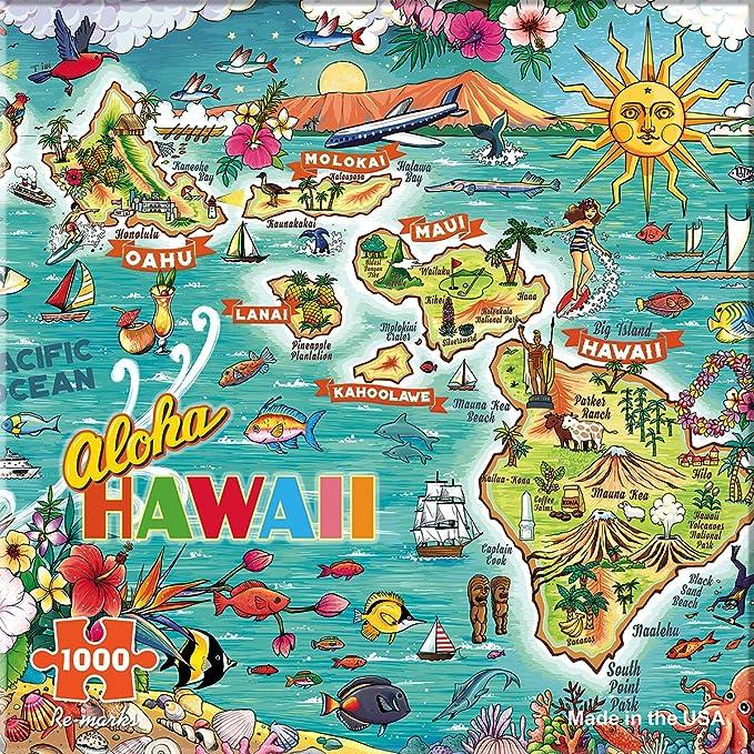 Top 20 Hawaiian experiences featured by top Hawaii blog, Hawaii Travel with Kids: Re-marks Hawaii 1000 Piece Puzzle