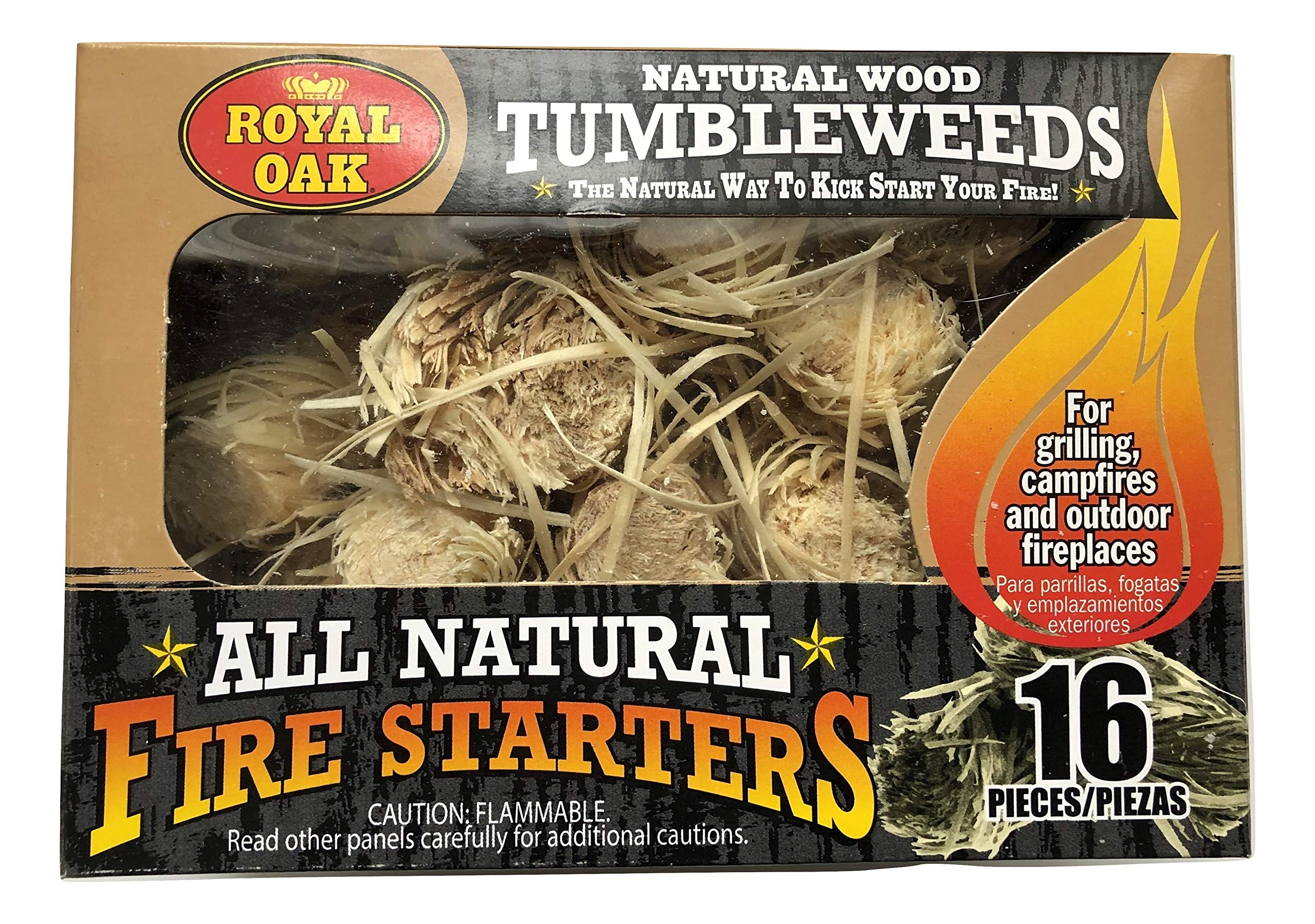 Royal Oak All Natural Fire Starters Natural Wood Tumbleweeds - 16 Pieces by Royal Oak