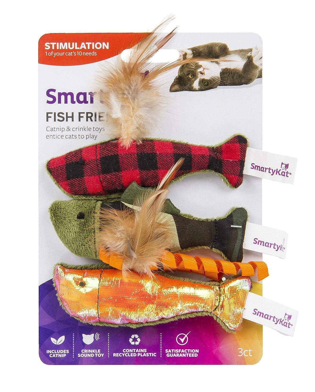 smartykat fish shaped cat toys