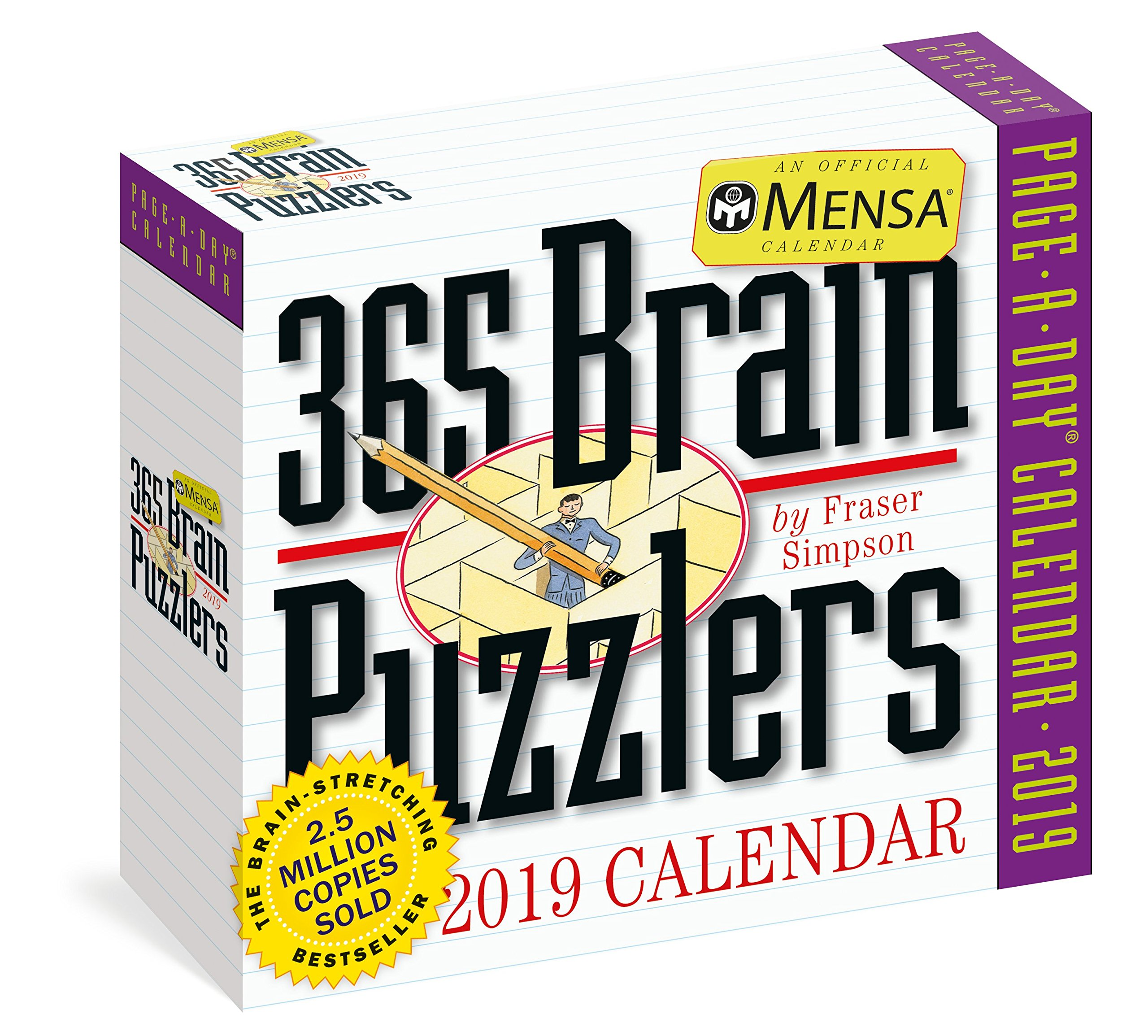 Mensa 365 Brain Puzzlers Page-A-Day Calendar 2019 Calendar – Day to Day Calendar, August 7, 2018 Fraser Simpson Workman Publishing Company 1523502711 Calendars