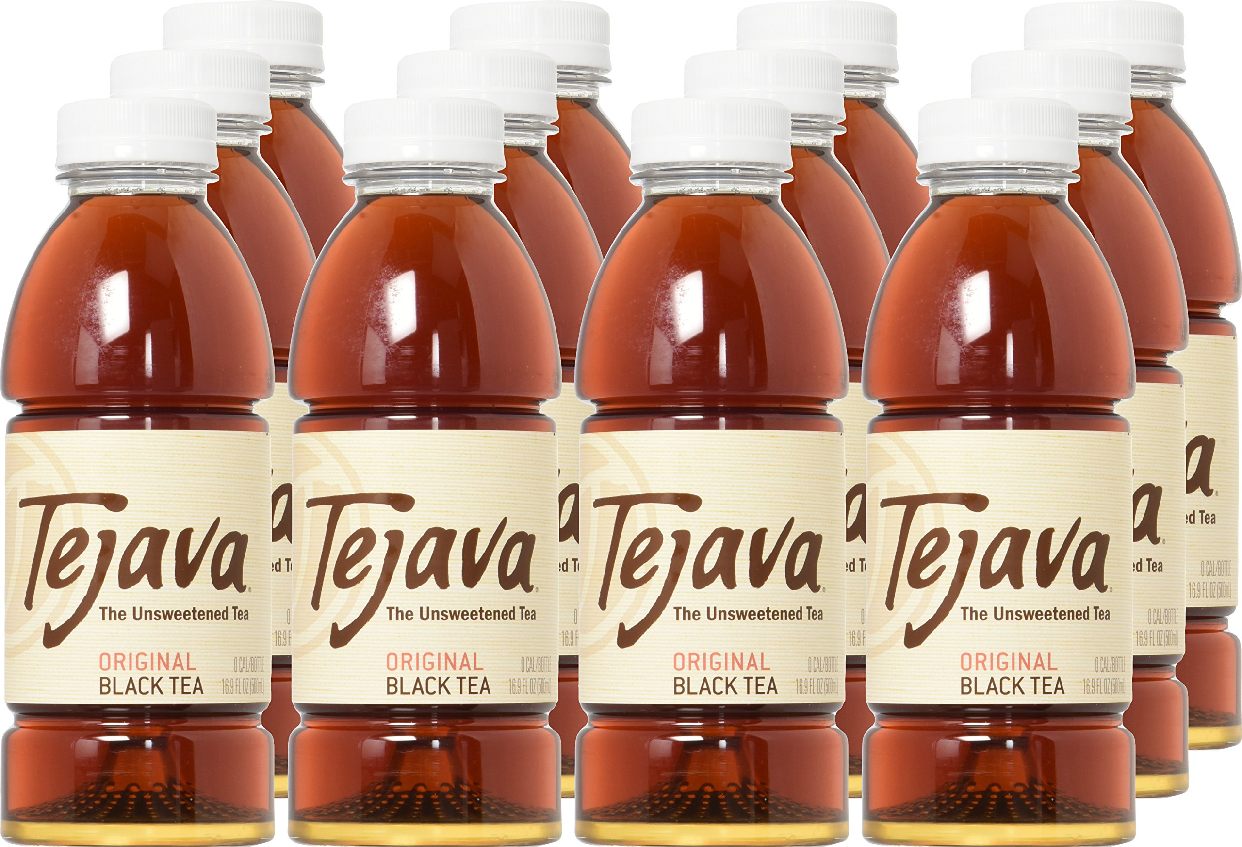 Tejava Original Unsweetened Black Iced Tea, 16.9 oz PET Bottles, Award Winning, Non-GMO-Verified, from Rainforest Alliance-Certified farms (12 Pack) by Tejava (Image #2)
