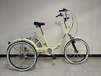 """Triciclo para adultos, marco plegable, ruedas de 24 """", engranajes shimano de"""