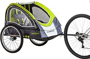 Schwinn Lumina Reflective Double BikeTrailer For Kids
