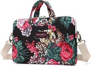 Canvaslove Black Rose Waterproof 13 inch Laptop Shoulder Messenger Case Sleeve Bag for 11 inch 12 inch 13.3 inch Laptop,Chromebook,Ultrabook Carrying Computer Notebook Bag