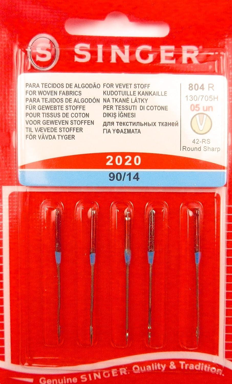 Singer Agujas para Máquinas de Coser 2020 grosor 90/14 para Tejido sustancias 130/705, 5 unidades: Amazon.es: Hogar