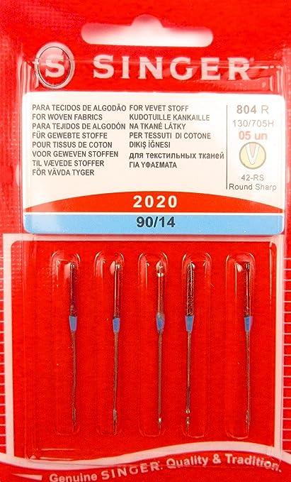 Singer Agujas para Máquinas de Coser 2020 grosor 90/14 para Tejido sustancias 130/705, 5 unidades