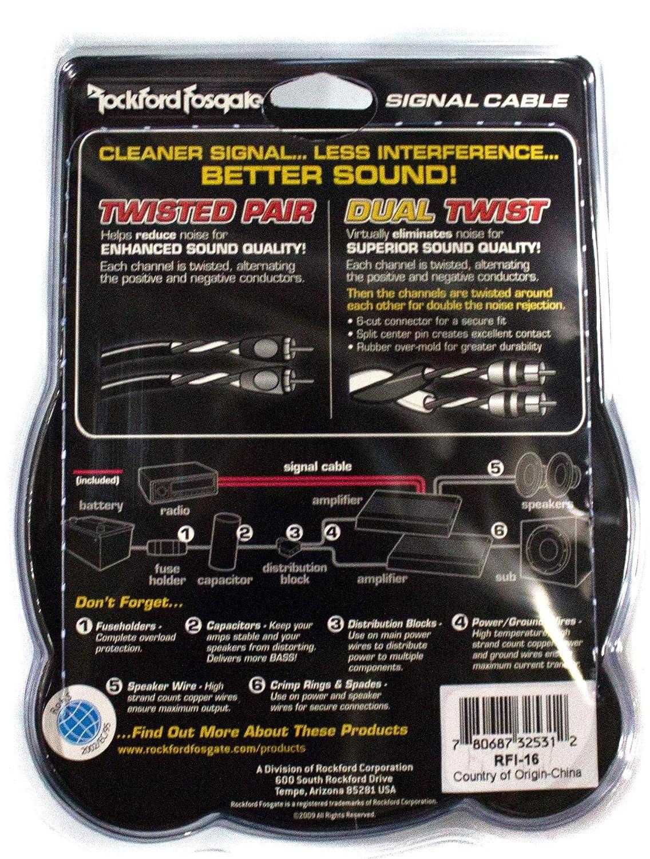 Electronics Speaker Wire Connectors 6 Pack Rockford Fosgate RFI-16 ...