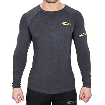 SMILODOX Slim Fit Longsleeve Herren 2.0 | Funktionsshirt für Sport Fitness  Gym & Training | Langarmshirt