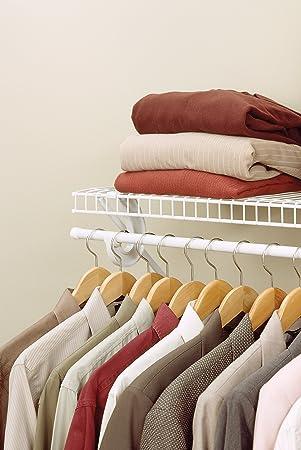 ClosetMaid SuperSlide 1.22m/4u0027 Ventilated Wire Shelf Kit With Hang Bar:  Amazon.co.uk: Kitchen U0026 Home