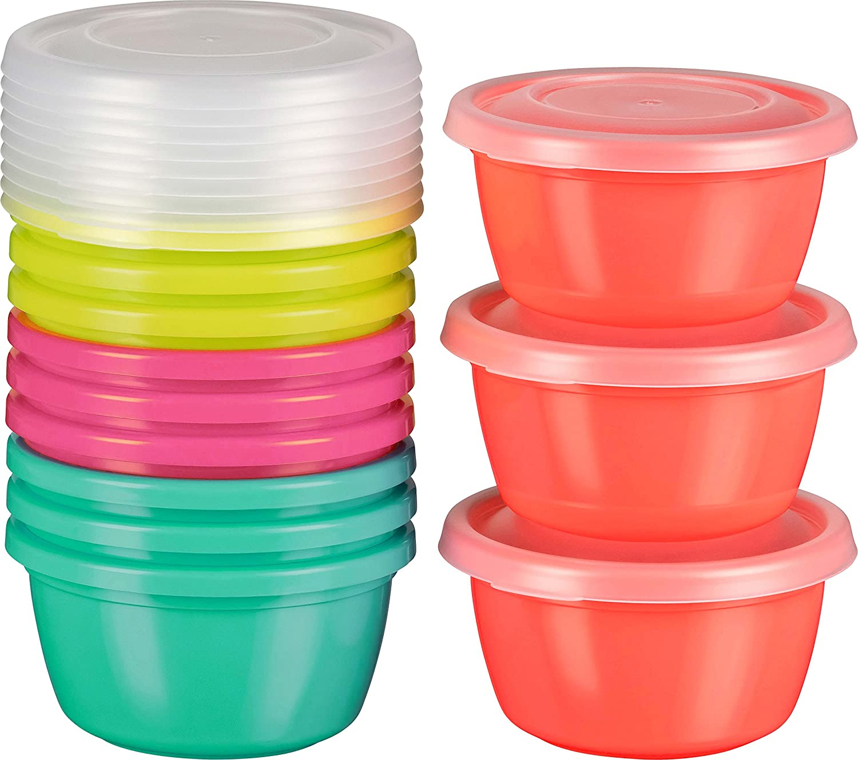 4 Stück Gefrierdosen My Basics Frischhaltedose Vorratsdose Einfrieren 250 ml