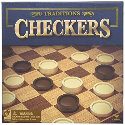 """Checkers 13""""x13"""" Board Game in Box: Toys & Games"""