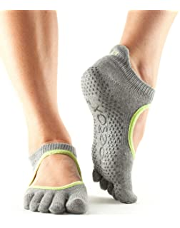 Toesox Full Toe Bellarina Calcetines de Yoga, Unisex Adulto