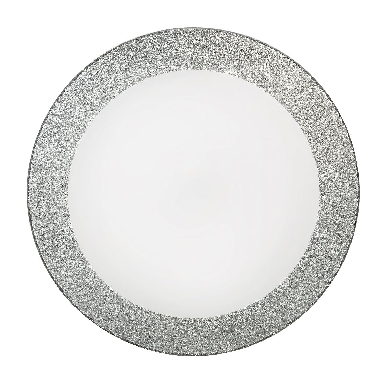 Gelco 709563/- Asiento de Inodoro de Purpurina 46/x 34/x 7,5/cm Resina Color Plateado dise/ño con amortiguaci/ón de Bajada