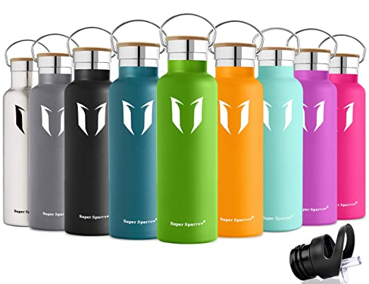 107 opinioni per Super Sparrow doppia parete in acciaio inox coibentato bottiglia di acqua- 500ml