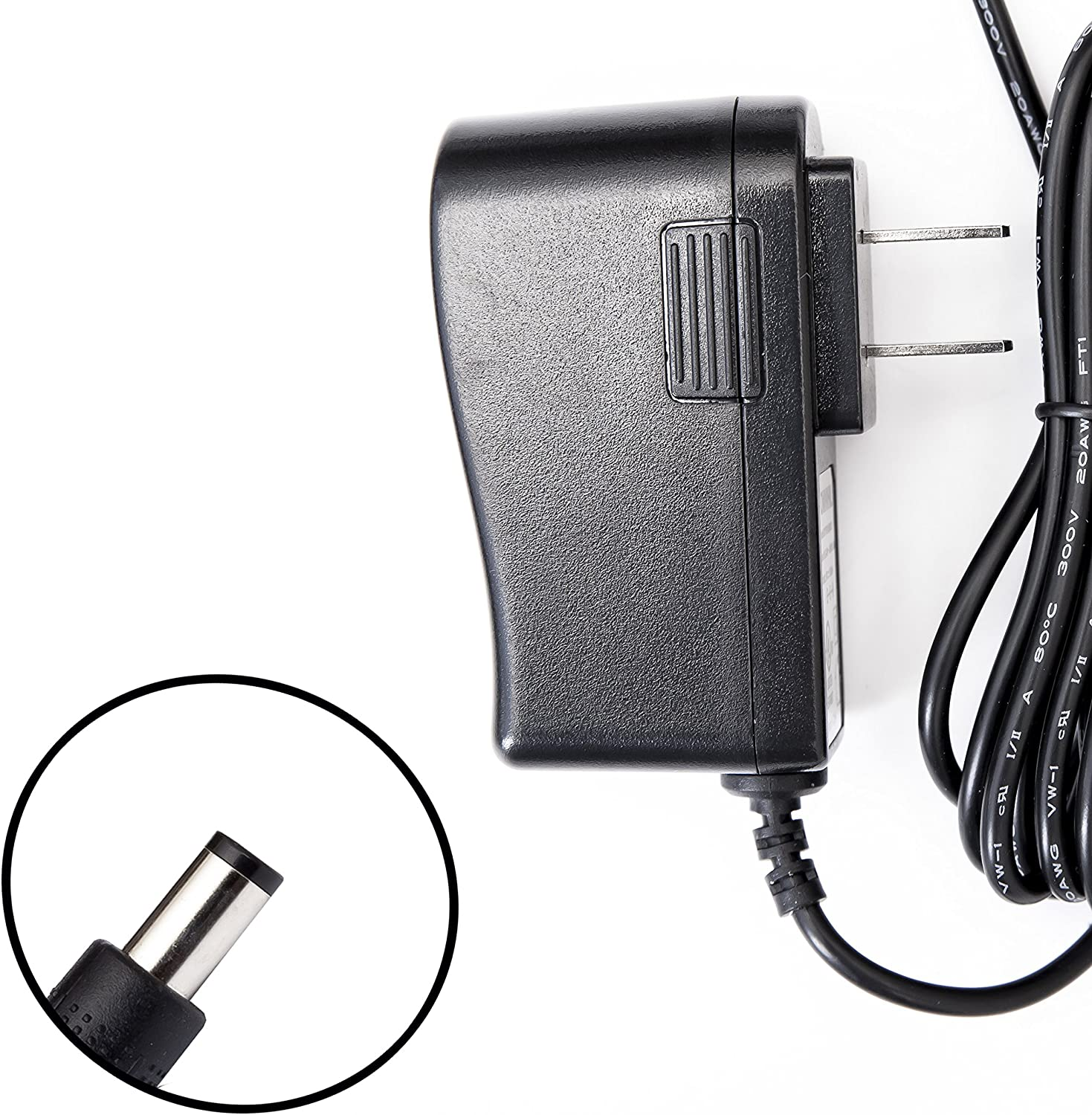 8 Foot Long Omnihil AC//DC Power Adapter 12V 1A 1000mA UL Listed 5.5x2.5millimeters Compatible with KTEC Power Adapter KSAS0121200100VU