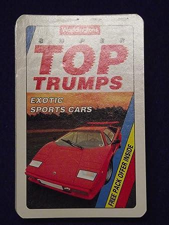Waddingtons Vintage Super Top Trumps Exotic Sports Cars Amazonco - Sports cars top trumps