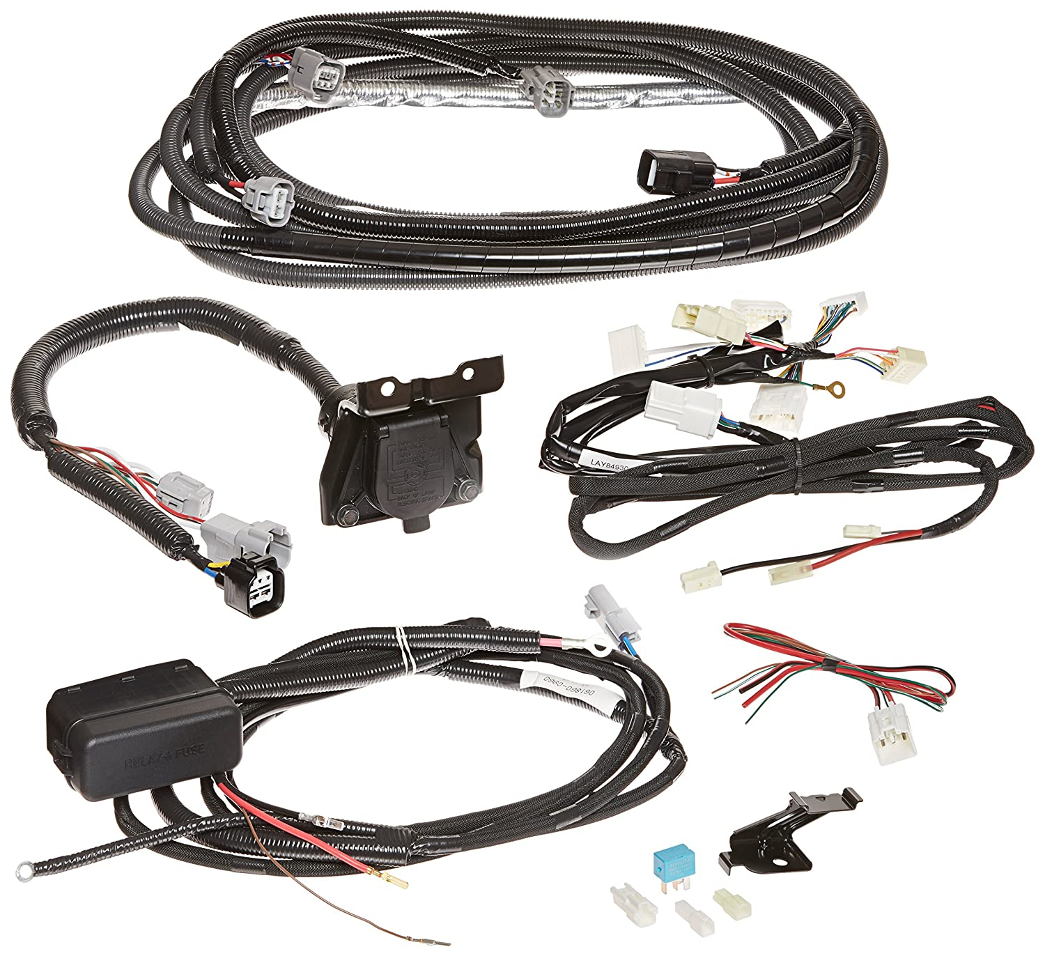 Toyota Genuine Accessories Pt725 34110 Towing Wiring Harness Automotive