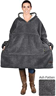 5229c7dd14 Catalonia Oversized Sherpa Hoodie Sweatshirt Blanket