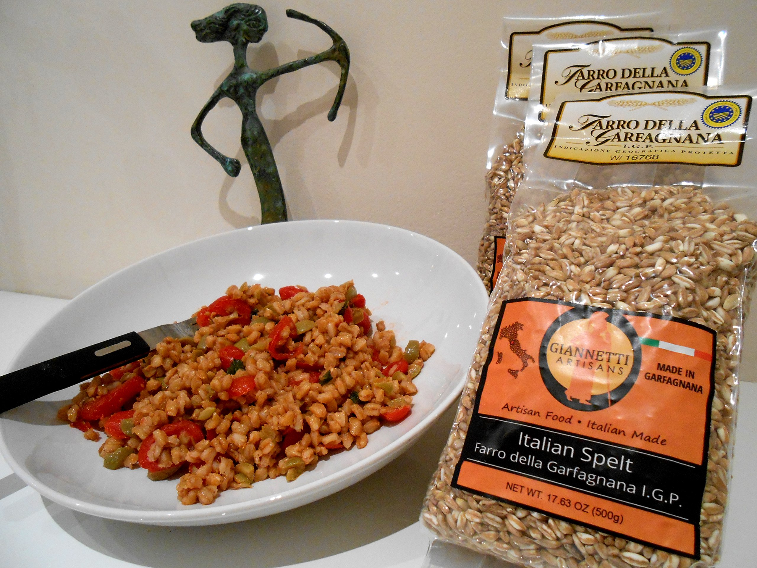 Giannetti Artisans All Natural Spelt from Tuscany IGP Certified (Farro della Garfagnana) - 1lb bag
