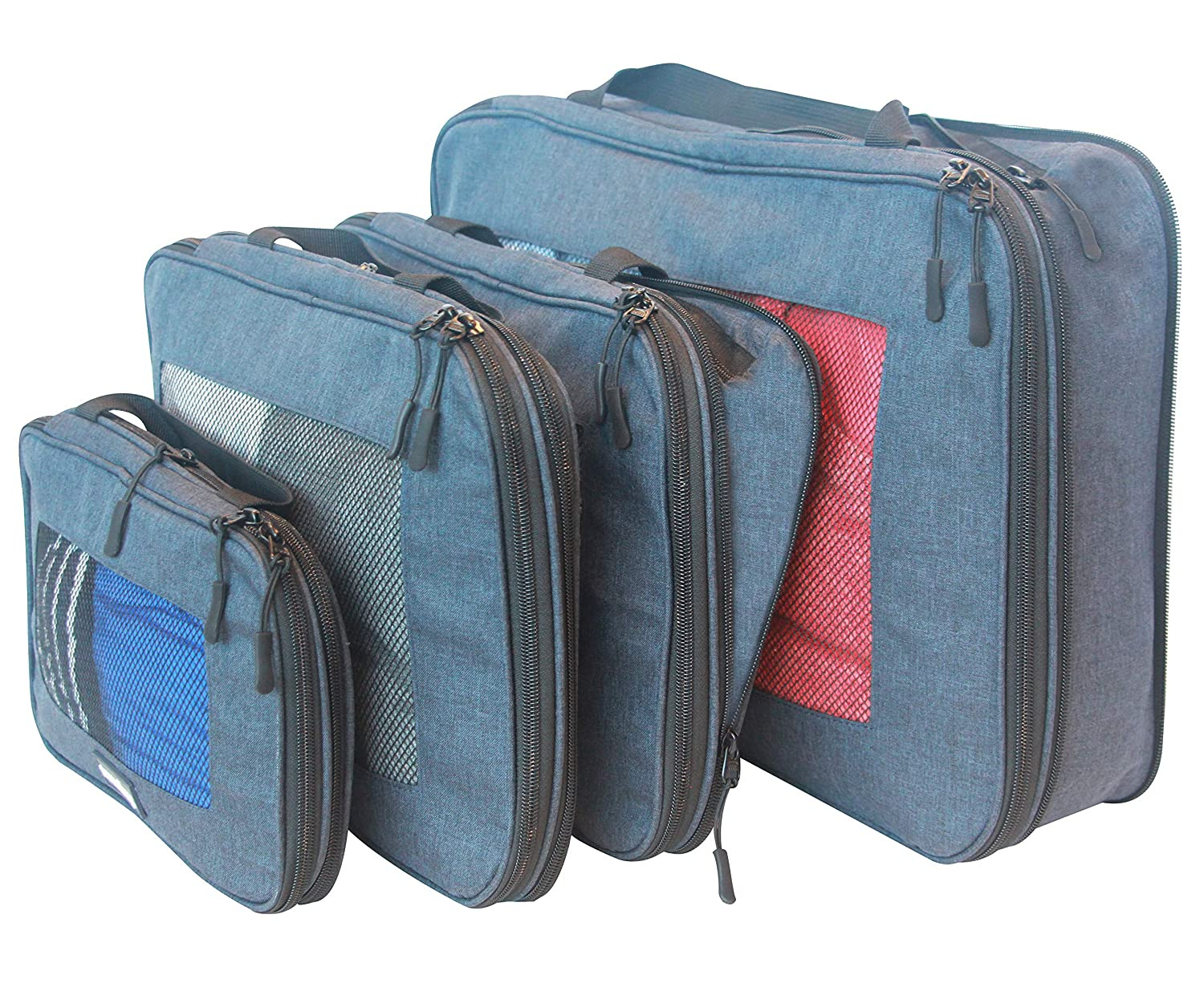 62bb280b89aa travelbug Compression Packing Cubes Set of 4 (Small, Medium, Medium, and  Large) | Compresses to fit More in Less Space | Luggage Organizer for  Travel ...