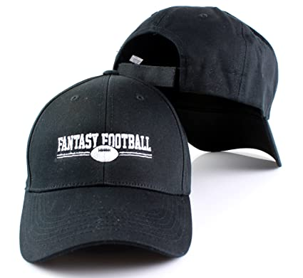 Fantasy Football Unisex Adult Adjustable Velcro Strapback Hat (Black) 2816187ac
