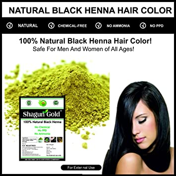 Buy Shagun Gold Natural Black Henna Powder 400g Without Chemical