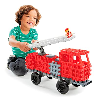 Little Tikes Waffle Blocks Vehicle Fire Truck: Toys & Games