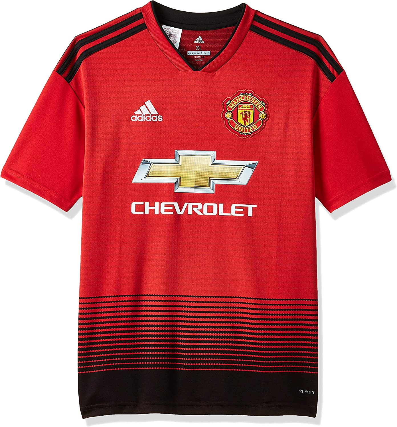 adidas 2018-2019 Man Utd Home Football Shirt (Kids)