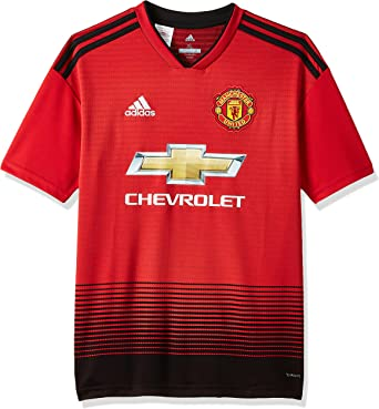 Amazon Com Adidas 2018 2019 Man Utd Home Football Shirt Kids Clothing