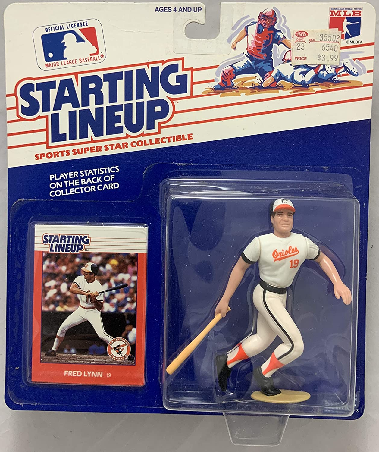 1988 KENNER STARTING LINEUP MLB FRED LYNN BALTIMORE ORIOLES MOC