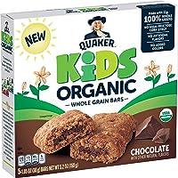 Quaker Kids Organic Whole Grain Bars, Chocolate, 5 - 1.05oz Bars