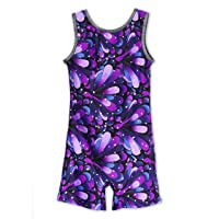 Leap Gear Gymnastics Biketards for Girls- from The Affordable Made in USA Brand, Girls, 1694330209, Purple Peacock, 6…