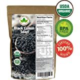 Black Cumin Seed 1lb (16Oz) (Bulk Nigella Sativa): 100% USDA Certified ORGANIC Bulk Egyptian Black Seeds (Black Caraway) – AKA Nigella or Kalonji, by U.S. Wellness Naturals