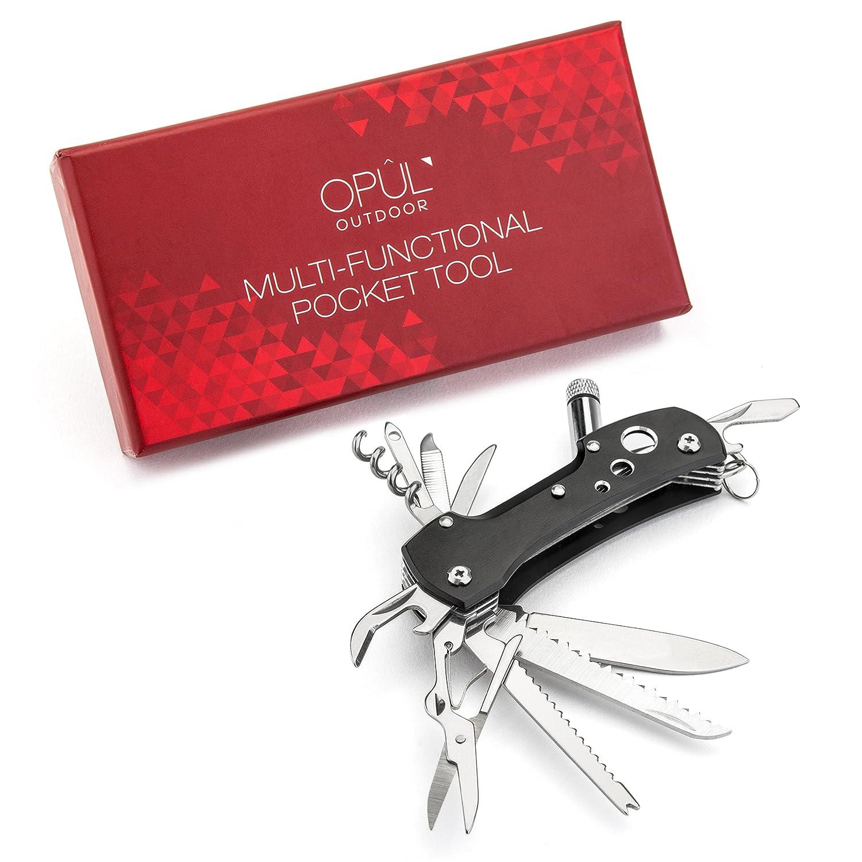 Navaja Multiuso de bolsillo Navaja Suiza Multifunción de acero inoxidable herramientas Cuchillo