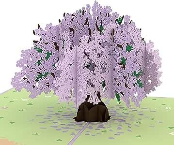 Lovepop Jacaranda Pop Up Card, Lovepop Card, Anniversary Card, 3D Nature Card, Birthday Card, Mothers Day Card, Tree Card, Summer Card, 3D Greeting Cards