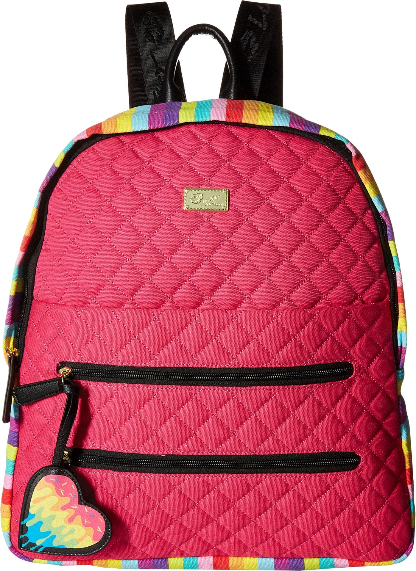 Luv Betsey Women's Bexxx Cotton Backpack Multi Faux/Green One Size