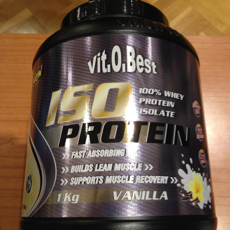 Proteína Iso Protein Vit.O.Best 1kg sabor VAINILLA: Amazon.es ...
