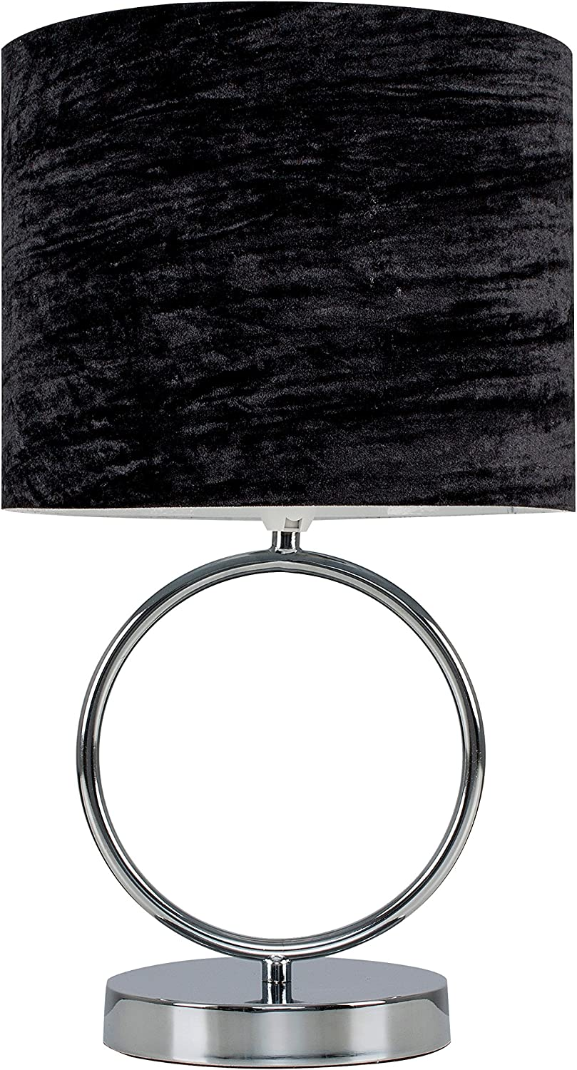 Chrome Hoop Design Touch Table Lamp