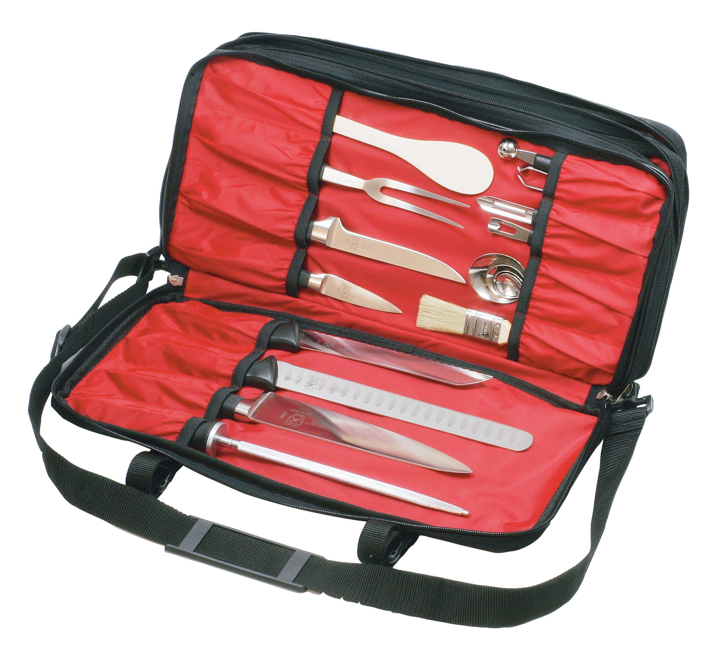 Mercer Culinary Triple-Zip 21-Pocket Knife Case