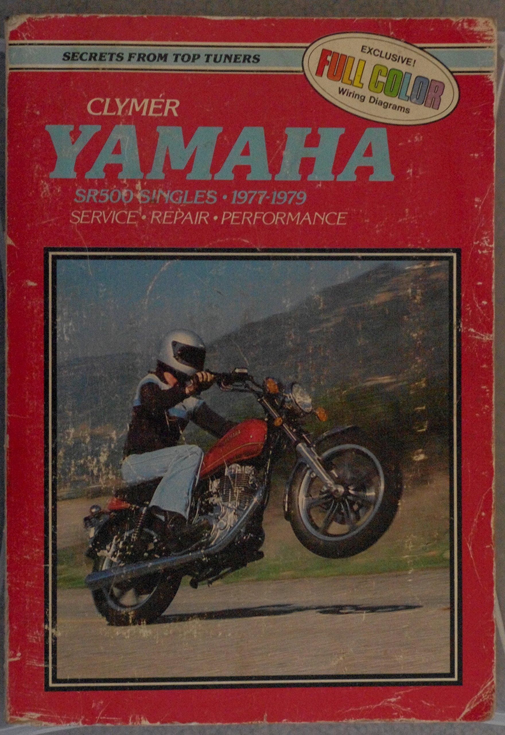Yamaha Sr500 Singles 1977 1980 Clymer Publications 9780892872121 Wiring Diagrams Sr 500 Books