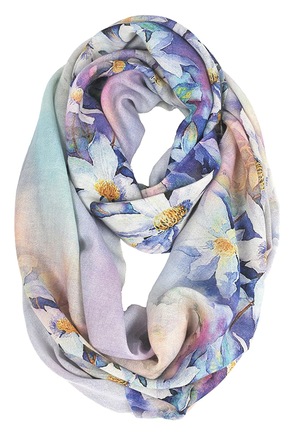 Purple Flower Winter Blanket Scarfs For Men And Women, Cashmere Like Pashmina Shawls And Wraps Scarves Solid color (bluee Tone)